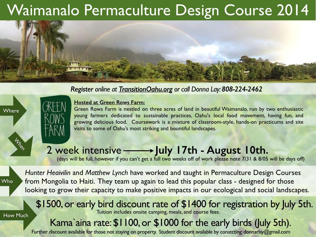 Waimanalo Permaculture Design Certificate Course 2014