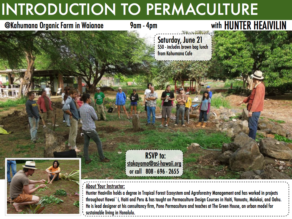 Introdution to Permaculture @Kahumana Organic Farm 06/21/14